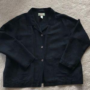 Tommy Bahama black linen like jacket w/pockets 🌴